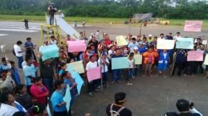 Se radicaliza la protesta en el lote 192. (Foto: Lino Chipana / El Comercio)