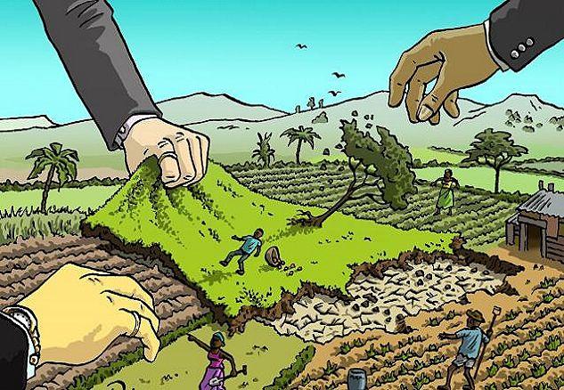 Ilustración referencial sobre expropiación en Zimbabue
