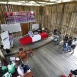 Planta de tratamiento de agua potable entregada por el Ministerio de Vivienda, Construcción y Saneamiento a las comunidades indígenas de las cuencas de ríos afluentes del Amazonas.