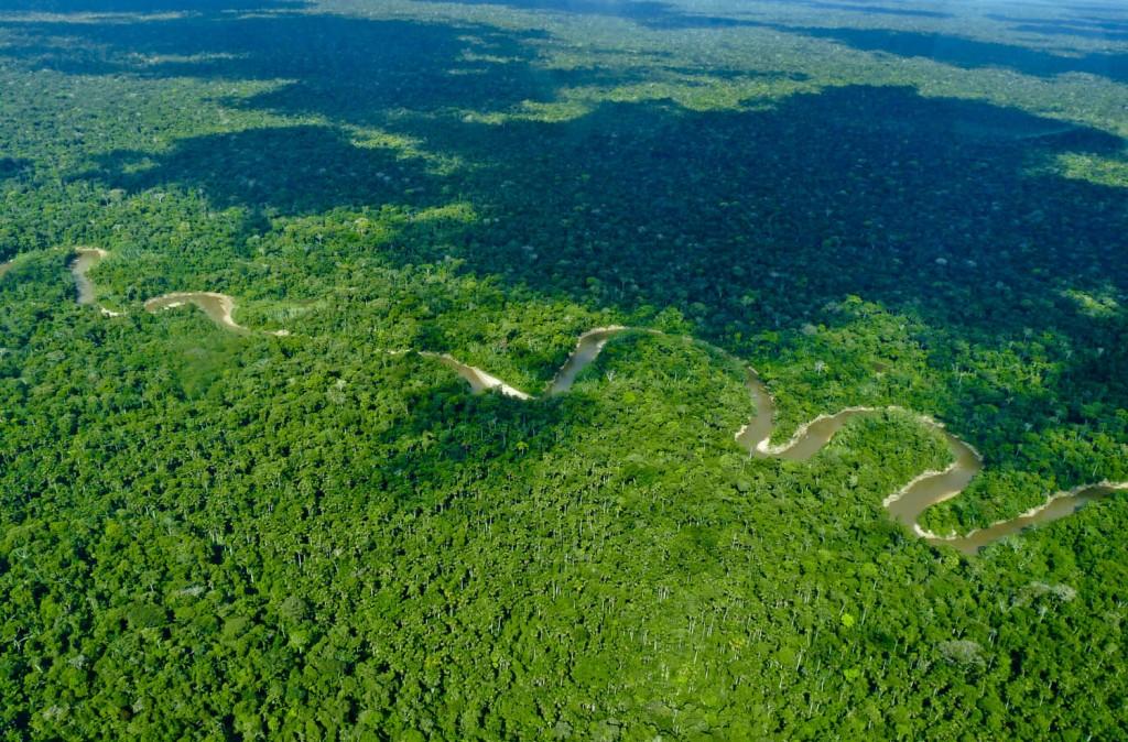Imagen de sobrevuelo realizado en 2012 en la región de la propuesta Yavarí-Tapiche (Foto: Hilton Nascimento / Acervo CTI)