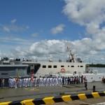 Acto del zarpe de las embarcaciones de acción cívica denominada X Jornada Binacional de Apoyo al Desarrollo Perú- Colombia 2016. Difusión