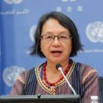 La Relatora de la ONU sobre los derechos de los pueblos indígenas, Victoria Tauli-Corpuz. Foto:ONU/JC McIlwaine