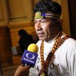 Aurelio Chino Dahua recibe amenazas continuamente. Hace un mes atentaron contra su vida. Foto: Servindi