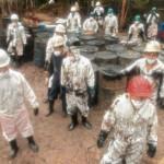 En febrero, un equipo de El Comercio llegó hasta el distrito de Morona, en Datem del Marañón, Loreto. En la zona se derramaron cerca de dos mil barriles de petróleo por una rotura en el oleoducto.(Alessandro Currarino/El Comercio)