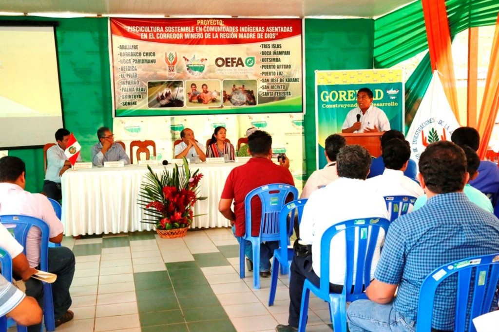 IIAP y Gobierno Regional de Madre de Dios impulsan proyecto para la conservación de peces amazónicos en zona del corredor minero de esa región.