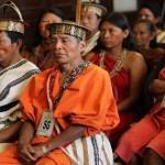 REUNION DE INDIGENAS AMAZÓNICAS EN EL CONGRESO.  FOTO:LINO CHIPANA