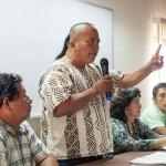 Washington Bolívar, del pueblo indígena Cacataibo, en una visita a Lima a inicios de este año para denunciar la deforestación de la Amazonía por causa de los monocultivos.