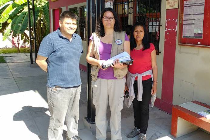 Abogados Richard O`Diana, del CAAAP, Ana María Vidal, de la CNDDHH, y Maritza Quispe, del IDL. Foto: CAAAP.