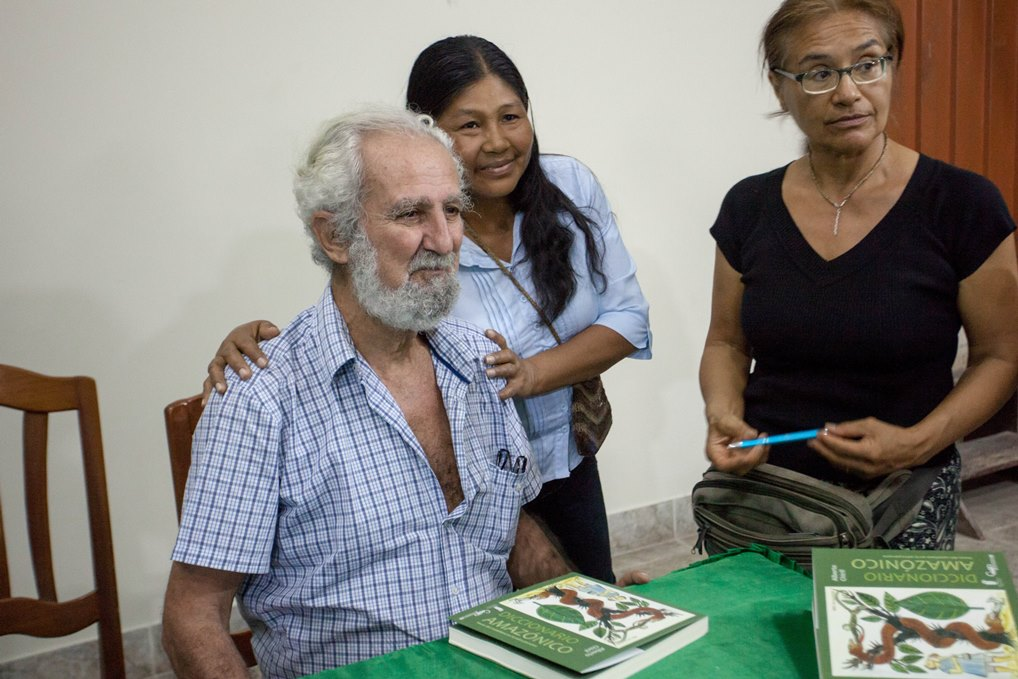 Alberto Chirif en Tarapoto, en la primera presentación de su libro, el pasado 27 de octubre. Foto: CAAAP.