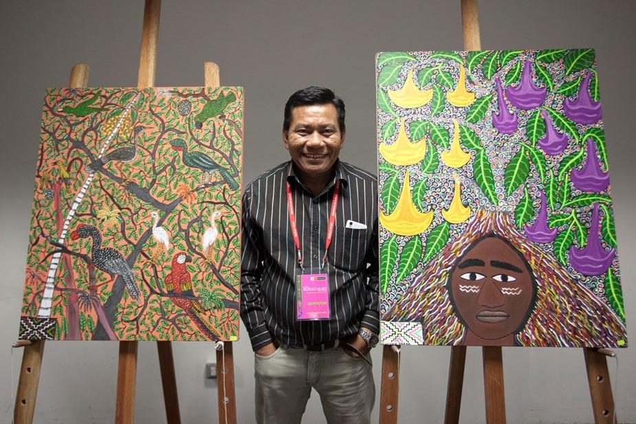 Roldán Pinedo López tiene más de 20 años de trayectoria como pintor. Foto: CAAAP