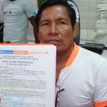 Jorge Pisco, apu de la comunidad nativa de Nuevo Lima. Foto: Acodecospat