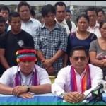 Representantes de la comunidad indígena afectada