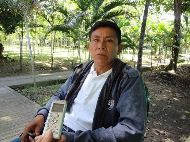 Jaime Tapullima, líder de los pueblos kichwas, shawis y awajún de San Martín.