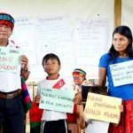 Familia achuar manifiesta su propuesta y exige respeto a sus derechos. Foto: La República.
