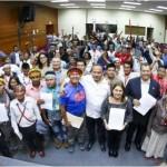 Los integrantes de las comunindades de Saramurillo exigieron un compromiso de las autoridades para mejorar su calidad de vida. Foto: La República.