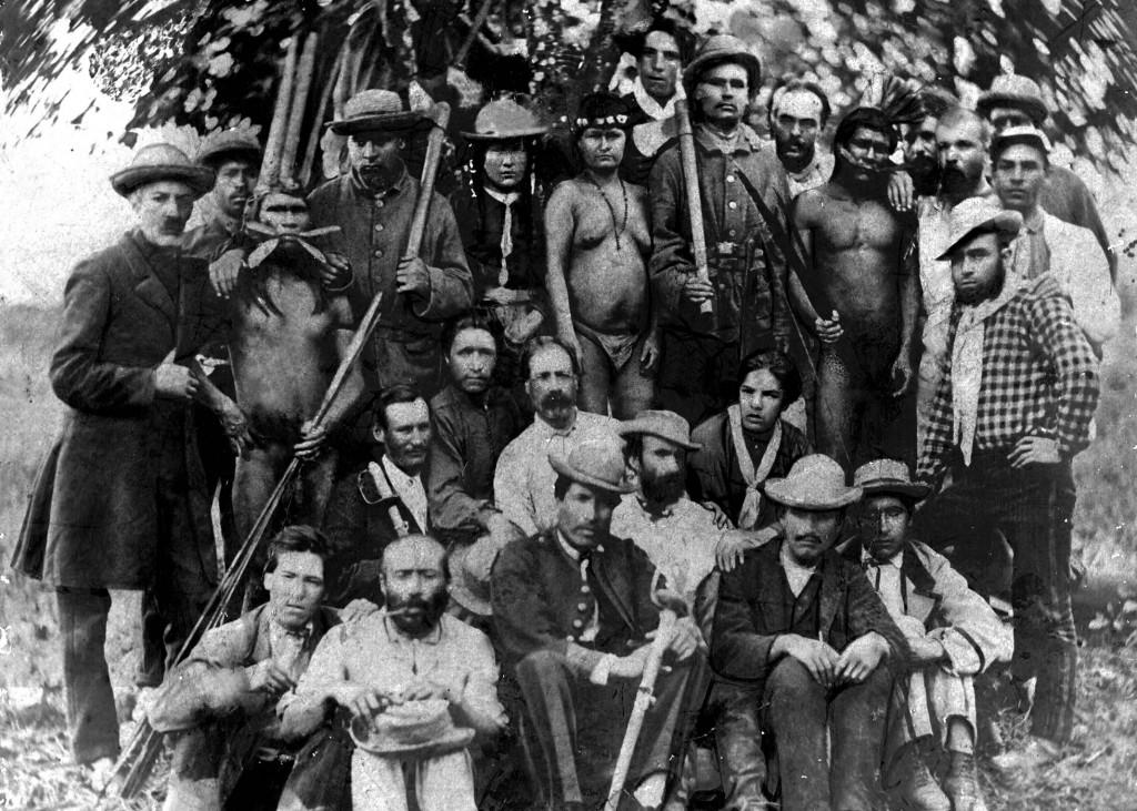 Una expedición del coronel La Torre, en 1878. Foto: Luis Alviña.