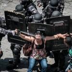 Protesta en Río de Janeiro sobre medidas de austeridad. © YASUYOSHI CHIBA/AFP/Getty Images