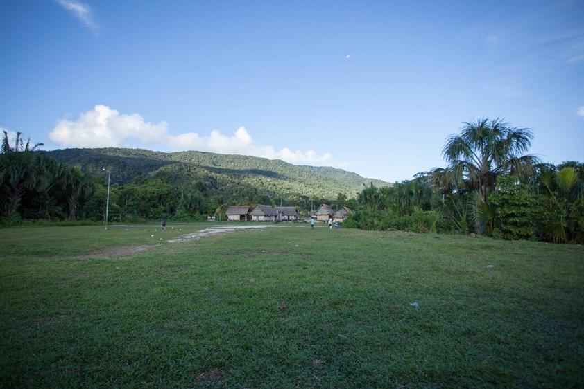 Comunidad de Soledad en territorio wampis, cuenca del río Santiago. Foto: Jonathan Hurtado