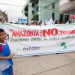 Abril de 2017. Marcha en Tarapoto, Perú, contra las políticas antiambientales del presidente del Partido Republicano. Foto: CAAAP