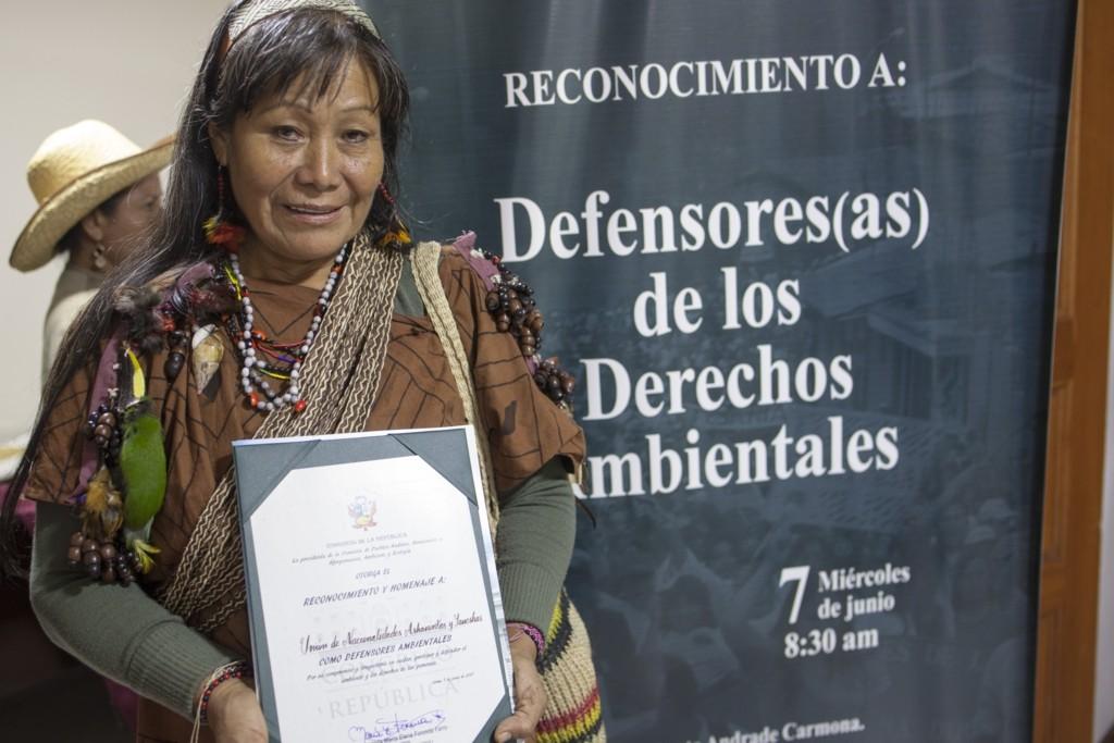 Teresita Antazú, lideresa del pueblo Yanesha