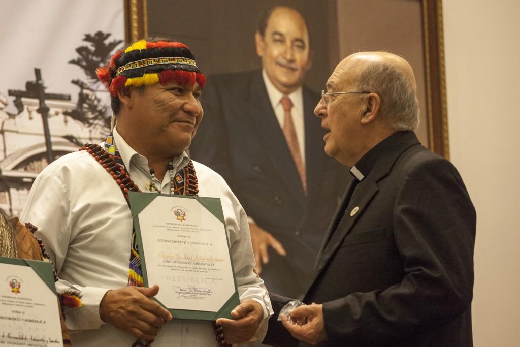 Wrays Pérez, presidente del Gobierno Territorial Autónomo de la Nación Wampis (GTANW)