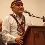 Wrays Pérez Ramírez, pamuk o presidente del Gobierno Territorial Autónomo de la Nación Wampis. Foto: CAAAP