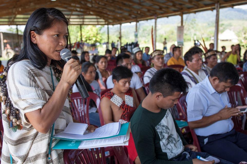 Amalia Cacique Coronado, del pueblo Ashéninka. Foto: CAAAP