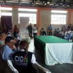 Delegación de la CIDH en la casa comunal de Chiriaco, distrito de Imaza, provincia de Bagua. Foto: Héctor Rodríguez