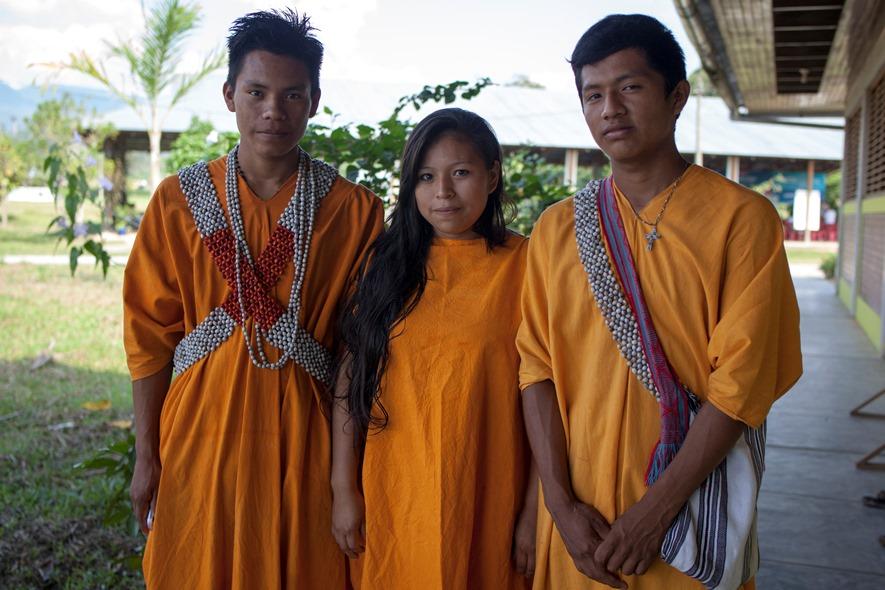 Jesús Rodil Chiricente Mahuanca de Boca Kiatari, Nilder Shoente Morales de Alto Anapati y Yuly Chumpati Chanqueti. Foto: CAAAP