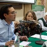 Primera fecha del seminario internacional tuvo lugar el 28 de junio. En la foto, investigadores Juan Carlos La Cerna, Morgana Herrera y Jean-Pierre Chaumeil. Crédito: CAAAP