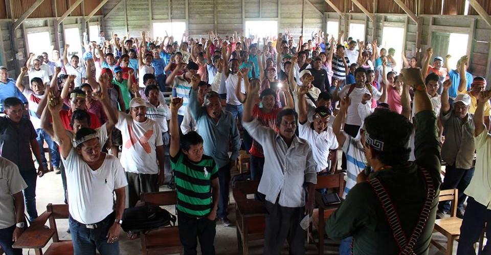 Comunidad Nuevo Andoas inicia movilización pacífica en Lote 192