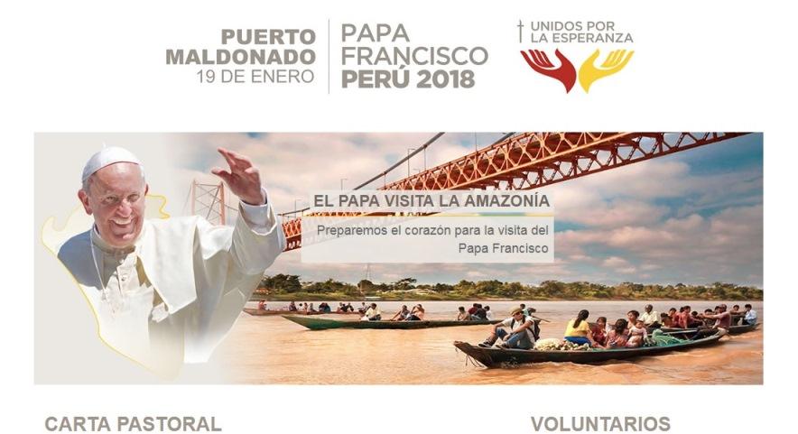 Sitio web que contendrá toda la información sobre la llegada del Papa Francisco a la Amazonía peruana.