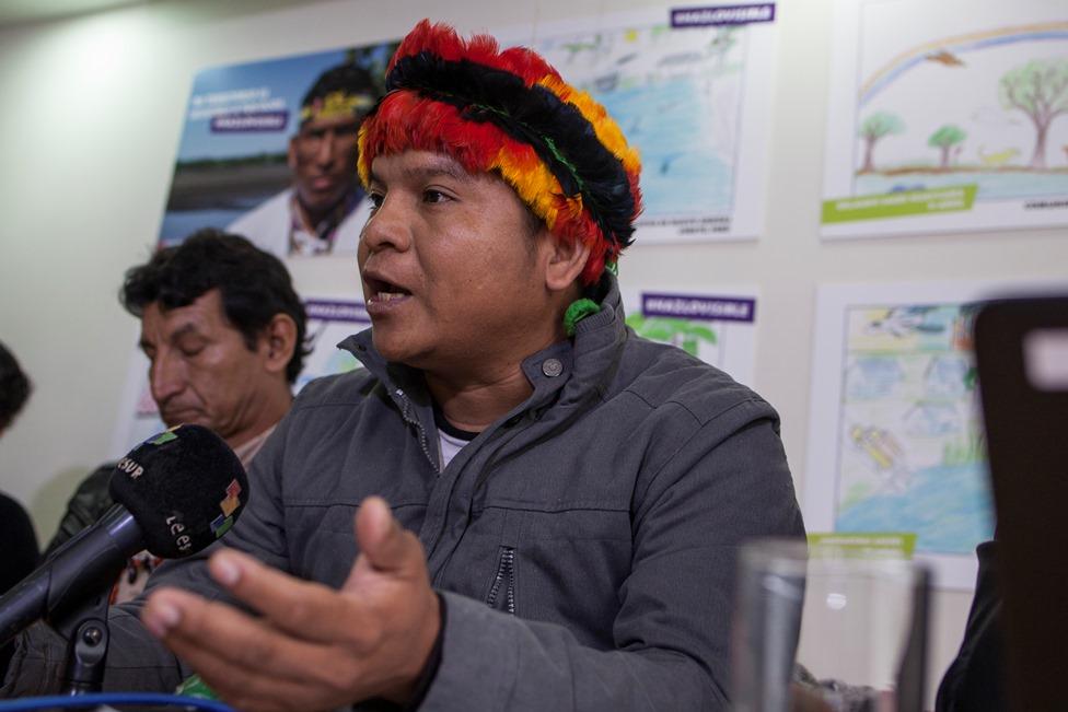 Carlos Sandi, presidente de Feconacor, federación de la cuenca del río Corrientes. Foto: CAAAP