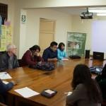Diálogo con estudiantes de la universidad Cayetano. Foto: CAAAP