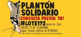 Hoy plantón en Petroperú por la consulta del Lote 192