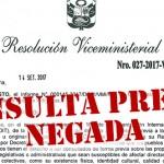 Resolución que niega la consulta. Imagen: Puinamudt