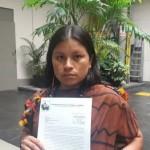Diana Ríos, hija de Jorge Ríos Pérez, uno de los cuatro líderes indígenas asesinados en Saweto (Ucayali) el 1 de setiembre del 2014 exhortó que se agilice las investigaciones del crimen. (Foto: Francesca García / El Comercio).