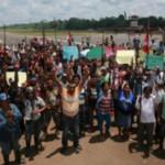 En el proceso de consulta previa del año 2015 también se registraron protestas en Nuevo Andoas ubicado en el lote 192 (Loreto). Foto: El Comercio.