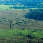 Vista aérea de uno de los geoglifos hallados en Brasil.