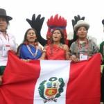 Escolares que compiten en los Juegos Deportivos Escolares Nacionales expresaron sus mensajes en aimara, ashaninka, shipibo y quechua chanka. (Foto: Minedu)