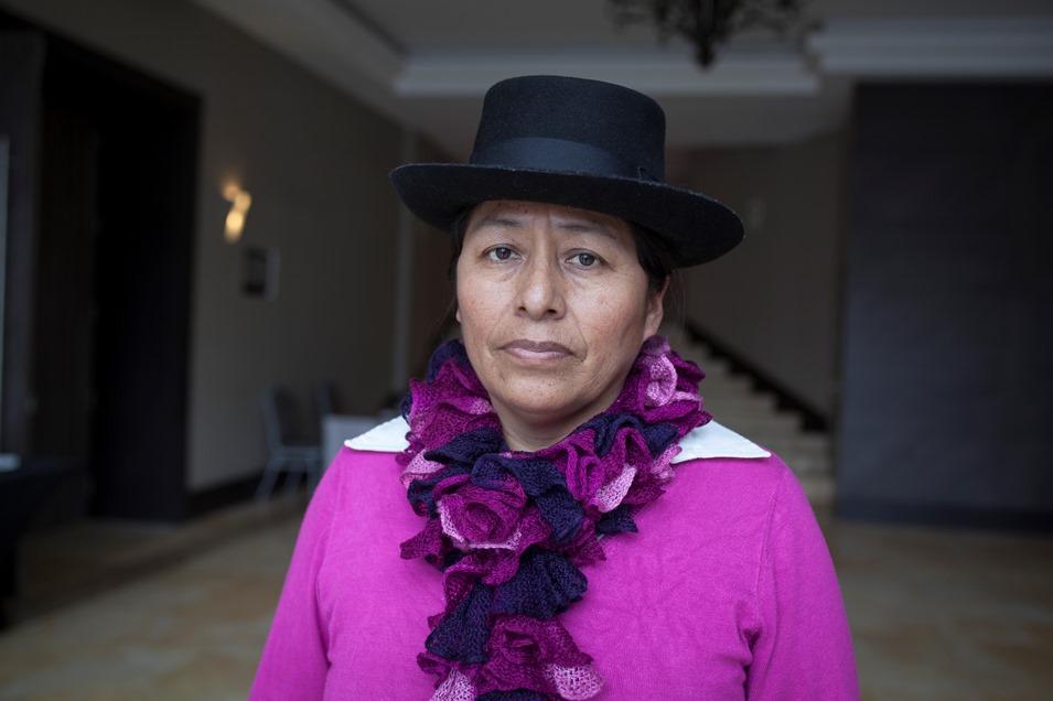 Melania Canales, vicepresidenta de la Onamiap. Foto: CAAAP