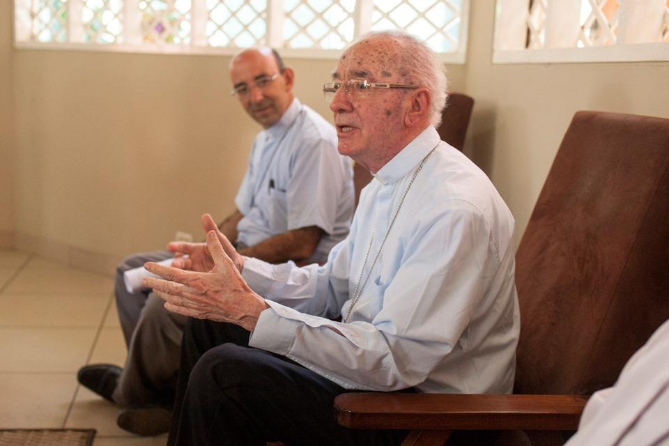 Cardenal Claudio Hummes, presidente de la REPAM, en cita con la prensa el pasado 20 de enero. Foto: CAAAP