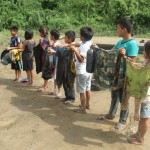 Los niños afectados por el derrame. Foto: Rodrigo Lazo