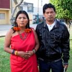 Lucía Kayap y el Apu Norberto Wamputsak exigen atención.