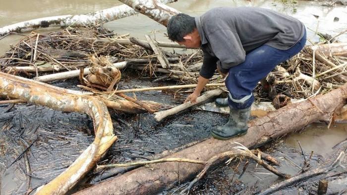 Imagen de la contaminación, difundida hoy. Foto: Puinamudt
