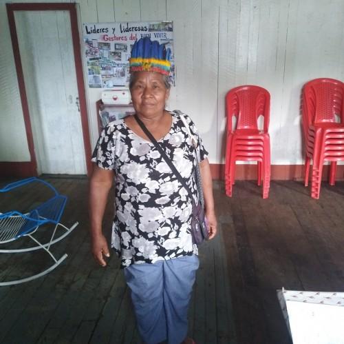 Ikuri Buinaño Buinajima, madre y abuela de la comunidad huitoto 8 de diciembre. Foto: CAAAP