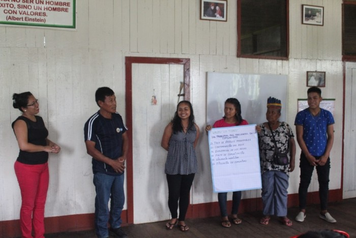 Participantes relatando lo aprendido. Foto: CAAAP