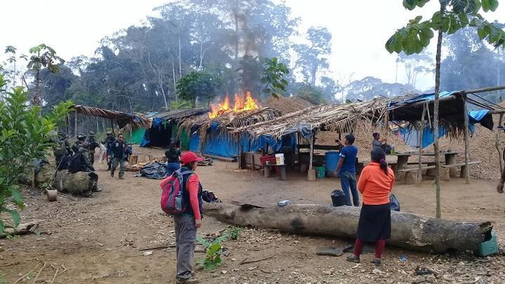 Operativo de interdicción generó la ira de los mineros ilegales.
