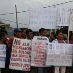 Los comuneros exigen Consulta Previa, remediación y atención médica