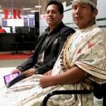 Guimaraes (Izquierda) y Hoyos (Derecha): dirigentes shipibos denuncian amenazas de traficantes y taladores ilegales. Foto: Virgilio Grajeda